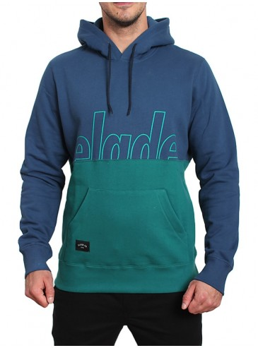 Elade Hoody Mikina Two Tone Blue Ocean Green