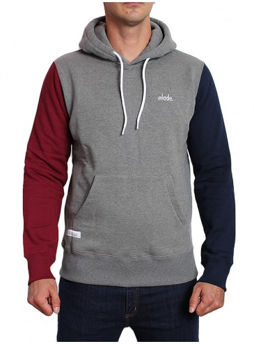 Elade Colour Block Hoodie Dark Grey/Navy Blue/Maroon