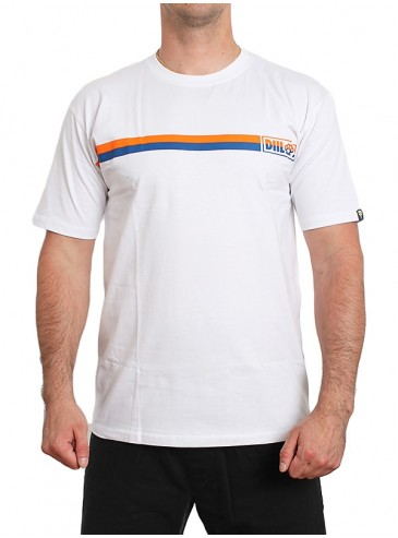 Diil Gang T-shirt Two Line White