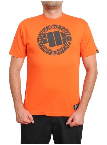 Pitbull West Coast T-shirt Chest Logo Orange